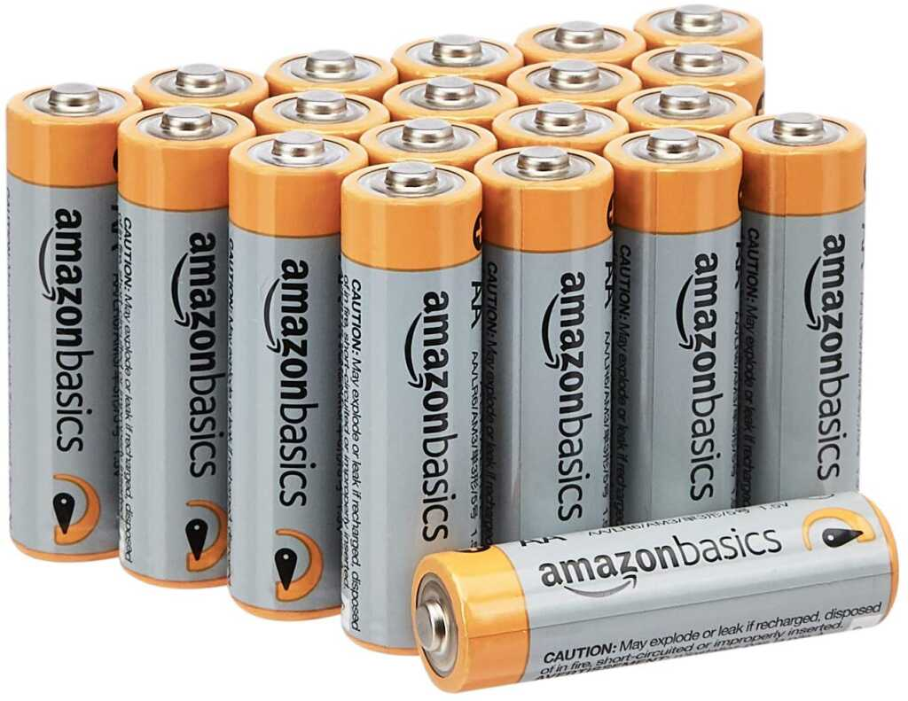 AmazonBasics AA 1.5 Volt Performance Alkaline Batteries - Pack of 20 - Best AmazonBasics Products for Home