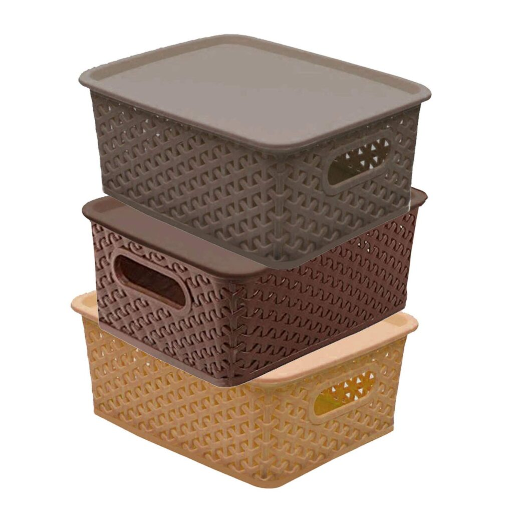 Kuber Industries  solitaire plastic storage boxes with lid