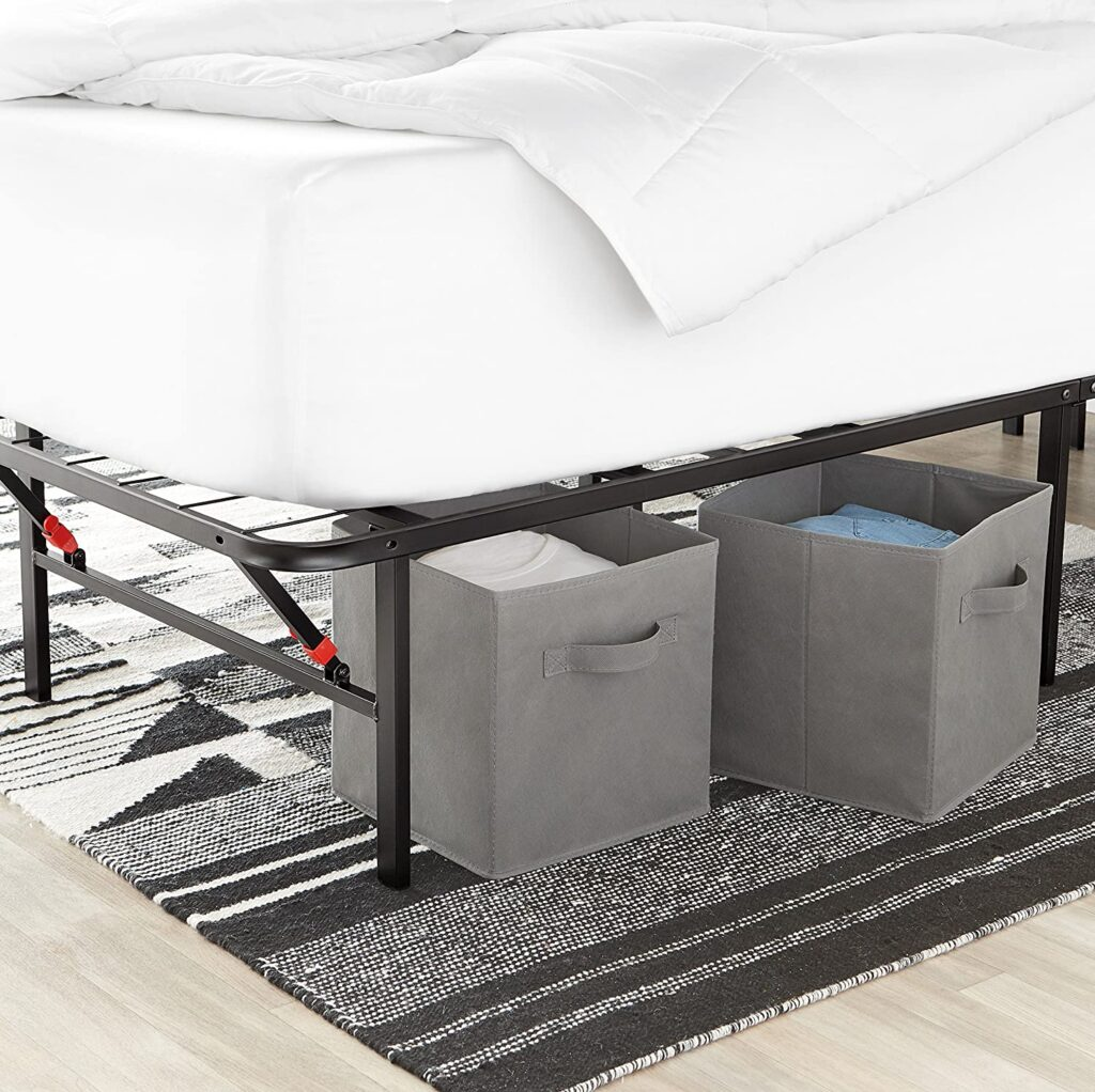 AmazonBasics Foldable under bed storage boxes for clothes