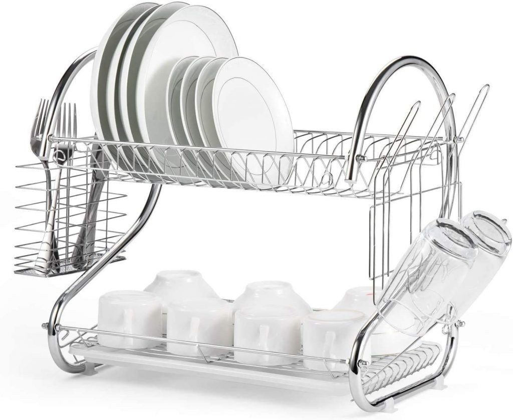 SROY Enterprise Stainless Steel Plate, Cutlery Utensil, Fruits and Vegetable Drying Drain and Storage Stand