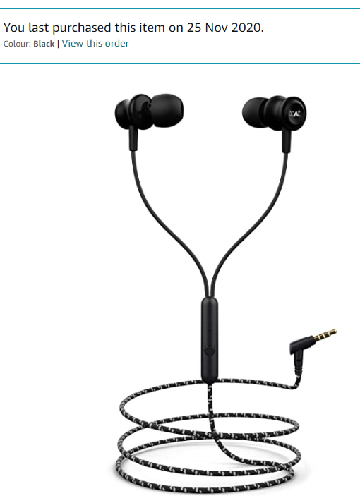 boAt Bassheads 152 in Ear Wired Earphones with Mic