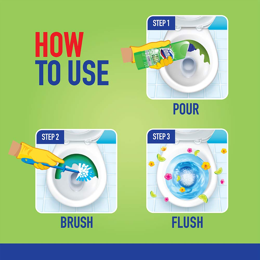 How to Use Domex Fresh Guard Lime Fresh Disinfectant Toilet Cleaner
