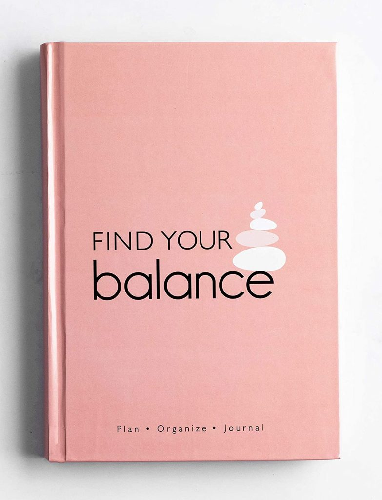 Find Your Balance - Undated Daily Planner and Journal Schedule