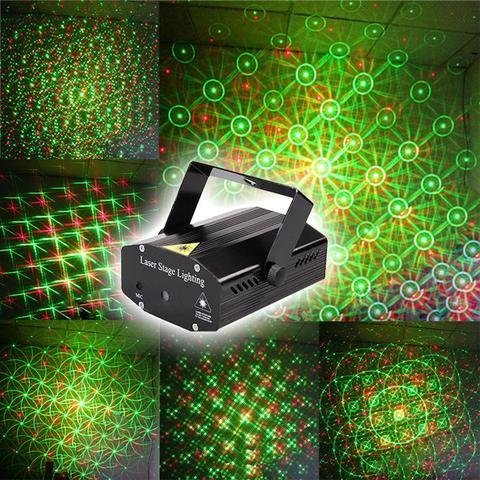 Pheonix Mini Laser Projector Stage Lighting Sound Activated Laser Light for Party and DJ