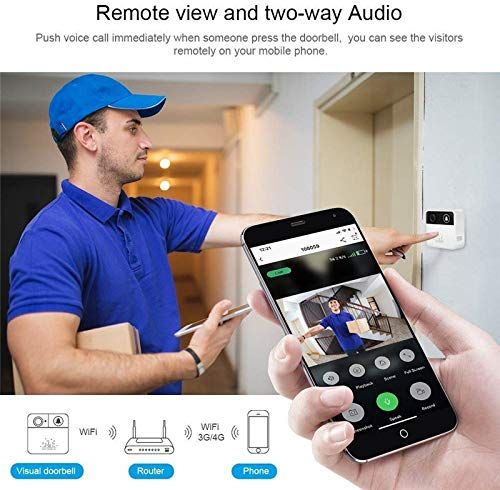 V.T.I.HD WiFi Wireless Doorbell and Phone with Two-Way Audio Security Camera