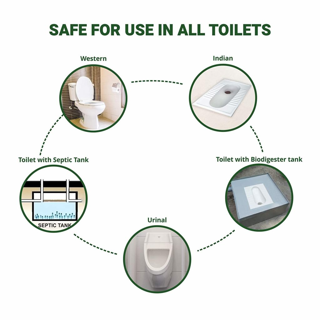 Safe for all types of toilets